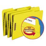 Smead Folders, Two Fasteners, 1/3 Cut Assorted, Legal, Yellow, 50/Box (SMD17940)