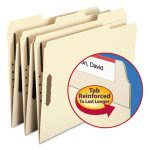 Smead Folders, Two Fasteners, 1/3 Cut Assorted Tabs, Manila, 50/Box (SMD14547)