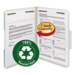 "Smead Recycled Pressboard Folders, Letter, 1"" Exp., Gray, 25 per Box (SMD15003)"