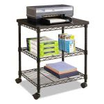 Safco Wire Machine Stand, Three-Shelf, 24w x 20d x 27h, Black (SAF5207BL)