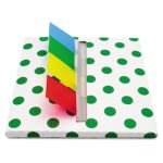 redi-tag-green-dot-designer-pop-up-page-flag-dispenser-4-pads-rtg75011