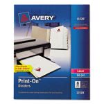 Avery Print-On Dividers, 8-Tab, 3-Hole Punched, 8-1/2 x 11, 1 Pack (AVE11528)