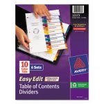 Avery Ready Index Easy Contents Dividers, Title 1-10, Letter, 6 Sets (AVE12173)