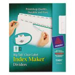 Avery Index Maker with Big Tab, 11x8-1/2, 8-Tab, White (AVE11491)