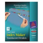 Avery Index Label Punched Dividers, Multicolor 8-Tab, 5 Sets per Pack (AVE12433)