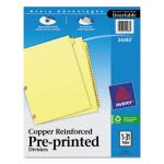 Avery Reinforced Tab Dividers, 1-31, Letter, Buff, 31 Dividers (AVE24283)