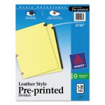 Avery Black Leather Tab Dividers, 1-31, Letter, 31 Dividers (AVE25187)