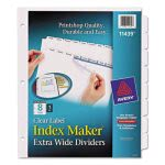 Avery Index Maker Clear Label Dividers, 8-Tab, 11 1/4 x 9 1/4, White (AVE11439)