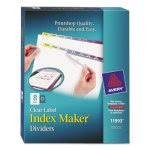 Avery Index Maker Clear Label Color Dividers, 8-Tab, 25 Sets per Box (AVE11993)