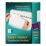 index-maker-clear-label-punched-dividers-5-tab-letter-5-sets-pack-ave12449