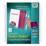 avery-index-maker-clear-label-pocket-dividers-letter-8-tabs-ave75501