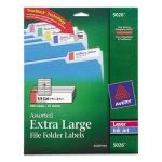 avery-extra-large-13-cut-filing-labels-whiteassorted-bars-450pack-ave5026