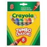 Crayola So Big Crayons, Large Size, 5 x 9/16, 8 Assorted Color Box (CYO520389)