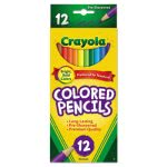 Crayola Colored Woodcase Pencils, 3.3 mm, Assorted Colors, 12/Set (CYO684012)