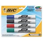 bic-great-bold-dry-erase-markers-chisel-tip-assorted-4-pack-bicdecp41asst