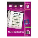 Avery Top Load Sheet Protector, Heavyweight, 8.5 x 5.5, Clear 25/Pk (AVE77004)