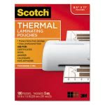 Scotch Letter Size Thermal Laminating Pouches, 5 mil, 100/Pack (MMMTP5854100)