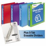"Mead D-Ring 1 1/2"" View Binders Bundle Pack, Assorted, 4/CT (MEA66534AU)"