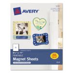 Avery Personal Creations Inkjet Magnet Sheets, 8-1/2 x 11, White, 5/Pk (AVE3270)