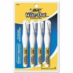 Bic Wite-Out Shake 'n Squeeze Correction Pen, 8 ml, White, 4/Pack (BICWOSQPP418)