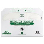 Health Gards Toilet Seat Covers, White, 250 per Pack, 4 Packs (HOSGREEN1000)