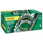 Perrier Sparkling Natural Mineral Water, 8 oz, 30 Cans (NLE377423)