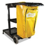 Impact Janitorial Cart, Three-Shelves, 20-1/2w x 48d x 38h, Blue (IMP6850)