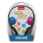 Maxell Kids Safe Headphones, Pink/Blue/Silver, 1 Each (MAX190338)
