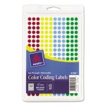 Avery See Through Removable Color Dots, 1/4 dia, Asstd, 864 Dots (AVE05796)