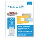 Pres-a-ply Laser File Folder Labels, 2/3 x 3 7/16, White, 1500/Box (AVE30632)