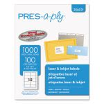 Avery Pres-A-Ply Laser Address Labels, 2 x 4, White, 1000/Box (AVE30603)