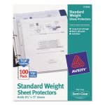 Avery Top-Load Sheet Protectors, Letter, Semi-Clear, 100 per Box (AVE75536)