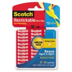 scotch-restickable-mounting-tabs-12-x-12-clear-108pack-mmmr103vpc