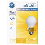 Halogen Bulb, Globe, 72 Watts, Soft White, 4 Bulbs (GEL66249)