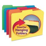 Smead Interior File Folders, 1/3 Cut Top Tab, Assorted, 100 per Box (SMD10229)