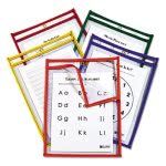 c-line-reusable-dry-erase-pockets-9-x-12-primary-colors-25pk-cli42620