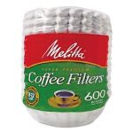 Melitta Basket Style Paper Coffee Filter, 8 to 12 Cups, 600 Filters (MLA631132)