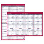 At-A-Glance Erasable Vertical/Horizontal Planner, Blue/Red, 2020 (AAGPM2628)