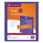Smead Poly String & Button Envelope, Purple, 5 Envelopes (SMD89544)
