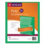 Poly String & Button Booklet Envelope, Green, 5 Envelopes (SMD89523)