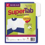 smead-supertab-two-pocket-folders-letter-size-blue-5pack-smd87964