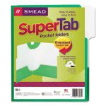 smead-supertab-two-pocket-folders-letter-size-green-5pack-smd87965