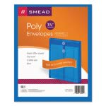 Smead Poly String & Button Envelope, Blue, 5 Envelopes (SMD89542)