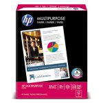 HP MultiPurpose20 Paper, 96 Bright, 20lb, Letter, White, 5 Reams (HEW115100)