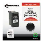 Innovera PG240XXL Compatible Reman High-Yield Ink, 600 Page, Black (IVRPG240XXL)