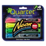 Quartet Glo-Write Neon Wet Erase Marker, Assorted, 4/Pack (QRT79551)