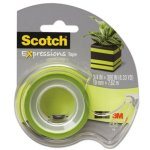 scotch-magic-tape-with-dispenser-3-4-x-300-lime-green-mmmc214grnd