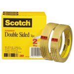 "Scotch Double Sided Tape, 3/4"" x 1296"", Transparent, 2 Rolls (MMM6652P3436)"