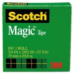"Scotch Magic Tape, 3/4"" x 72 yards, 3"" Core, Clear (MMM810342592)"