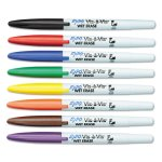 Expo Vis-a-Vis Wet-Erase Marker, Fine Point, Assorted, 8/Set (SAN16078)
